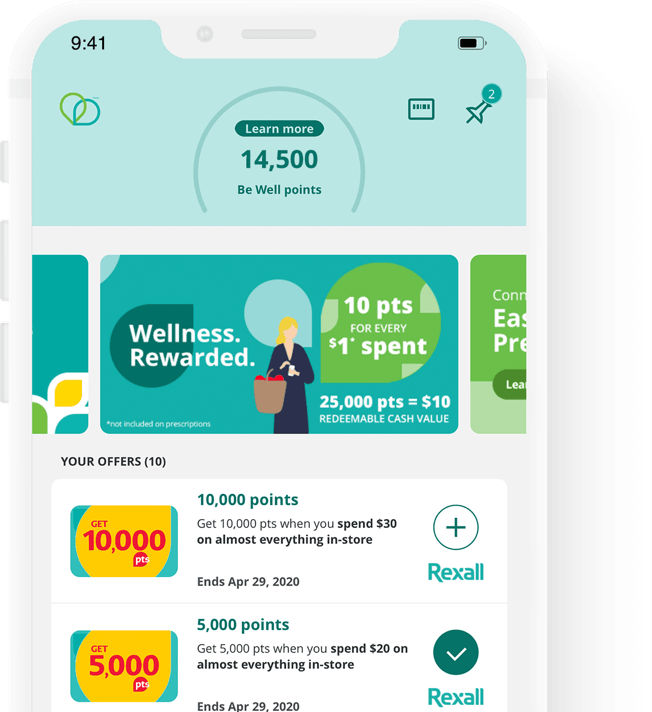 Be Well App screen